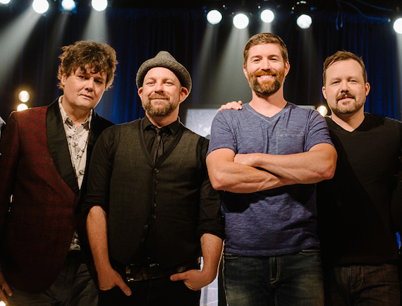 Pictured (L-R): Ron Sexsmith, Kristian Bush, Josh Turner, and Deric Ruttan at the CMA Songwriters Series Wednesday night at The Great Hall in Toronto. Photo: Brian B. Bettcourt/CMA