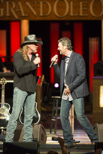 Trace Adkins and Blake Shelton. Photo: Chris Hollo