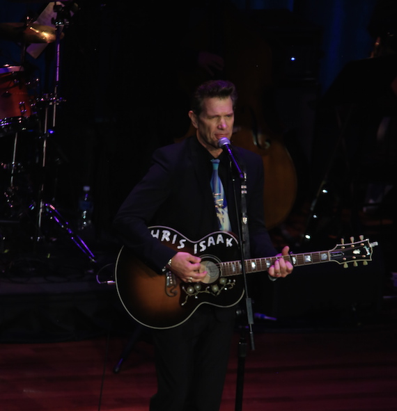Chris Isaak performs. Photo: Bev Moser, Moments By Moser.