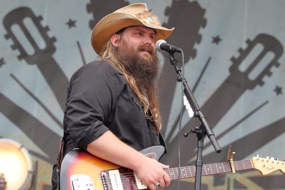Chris Stapleton performs the second afternoon of Franklin, Tenn.'s Pilgrimage Festival. Photo: Terry Wyatt.