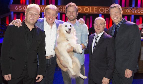 Pictured L-R: Jamie Dailey, Bill Anderson, Dierks, Darrin VIncent and Bill Cody