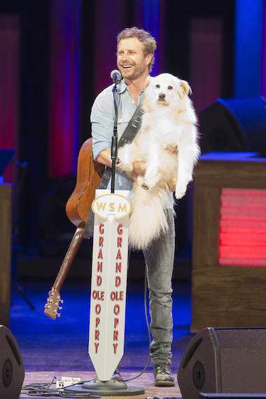 Dierks with his dog Jake
