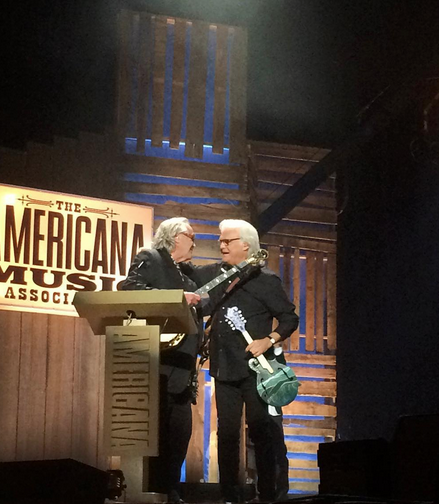 Ry Cooder and Ricky Skaggs.