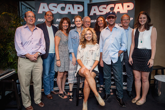 Seated: Abbey Cone. Standing (L-R):  Clay Neuman (Founder/President of Vision Entertainment), Steve Leslie (Partner at SNG Music), Lynn Morrow (Entertainment Attorney Adams and Reese), Beth Brinker (Creative Manager at ASCAP) , Bobby Fischer (SNG Songwriter Emeritus), Brandy Reed (Founder of RPR Media & Public Relations), Michael Martin (VP of ASCAP Nashville Membership Office), Gary Reamey (Partner at SNG Music), Erin Kidd (Director of promotion and Administration at SNG Music).