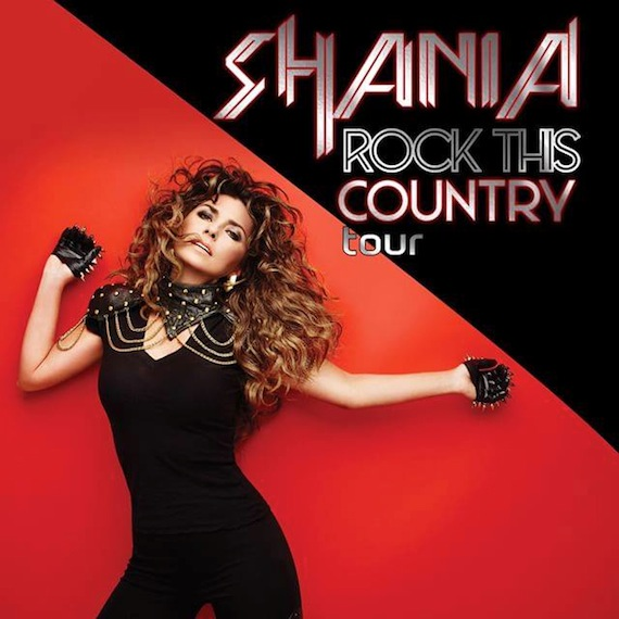 Shania Twain Rock This Country Tour 2015