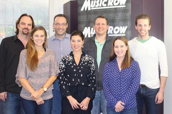 Alexandra Demetree with MusicRow staffers.