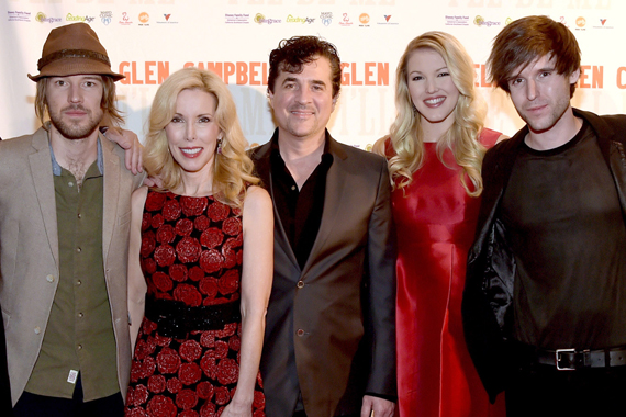 Campbell family at a 2014 documentary celebration. Pictured (L-R): Cal Campbell, Kim Campbell, Scott Borchetta (BMLG), Ashley Campbell, Shannon Campbell. Photo: Rick Diamond