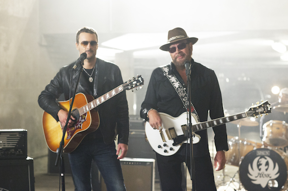 Pictured (L-R): Eric Church, Hank Williams, Jr. Photo: Nash Icon Records.