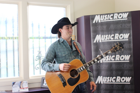 William Michael Morgan performs for MusicRow staffers.