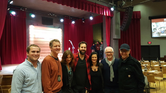 Pictured (L-R): Josh Hunter - Hill Entertainment Group, Greg Hill - Hill Entertainment Group, Tracy Gershon - Rounder Label Group, Josh Kelley, Leslie Fram - CMT, Cliff O'Sullivan - Rounder Label Group, David Newmark - Rounder Label Group