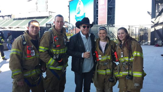 Kix and firefighters_101015