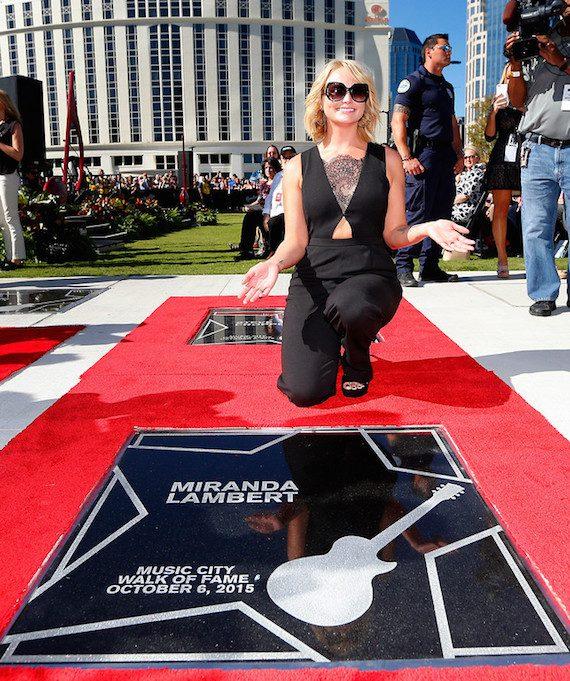 Miranda Lambert receives a star on the Music City Walk of Fame. Photo: Donn Jones.