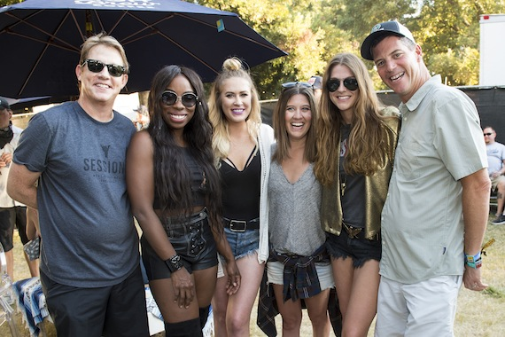 Pictured (L-R): Third Generation's Clay Bradley, BMI songwriter and Muddy Magnolias member Jessy Wilson, BMI songwriter Sarah Davidson, CAA's Lindsey Myers, BMI songwriter and Muddy Magnolias member Kallie North and BMI's Mark Mason.