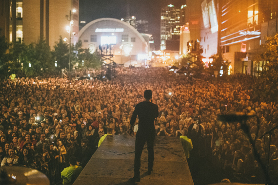Sam Hunt's Nashville street party on October 28, 2015. Photo: Steven Worster