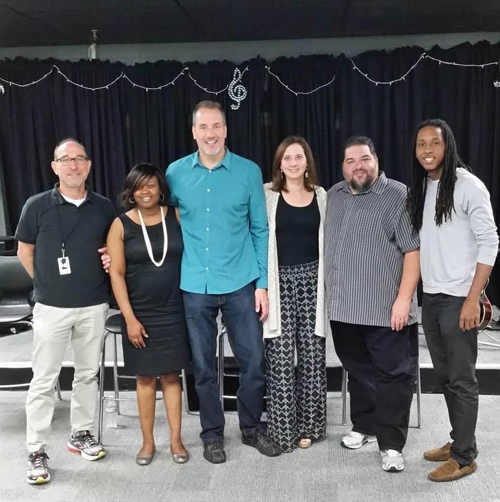 Pictured (L-R): Sam Lorber, Pearl-Cohn; Yolanda Jackson, Pearl-Cohn; Tom Luteran Sony/ATV, Alicia Warwick, The Recording Academy; Tim Fink SESAC and Marqo Patton, Pearl-Cohn.
