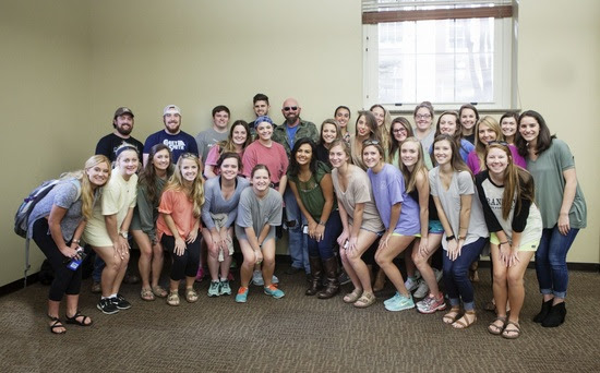 Corey Smith and students at the University of Georgia.