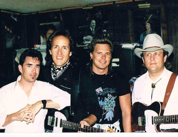 Hugh Wright (on left) was the drummer in Boy Howdy. Photo submitted by Jeffrey Steele.
