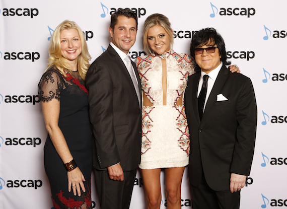 Pictured (L-R): Elizabeth Matthews, CEO, ASCAP; Michael Martin, VP Membership, ASCAP Nashville; Kelsea Ballerini; John Titta, EVP Membership, ASCAP.