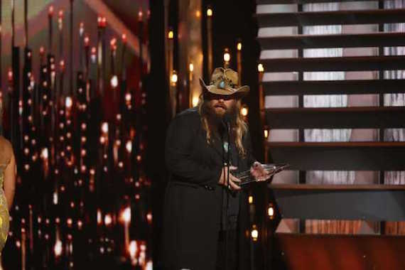 Chris Stapleton wins CMA New Artist of the Year. Photo: CMA