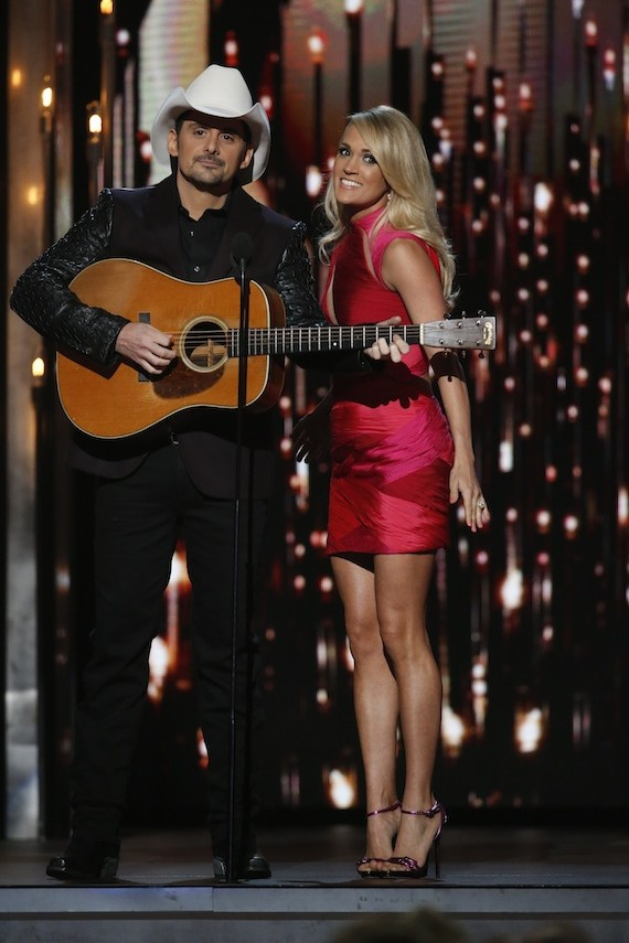 Pictured (L-R): Brad Paisley, Carrie Underwood. Photo: Donn Jones/CMA