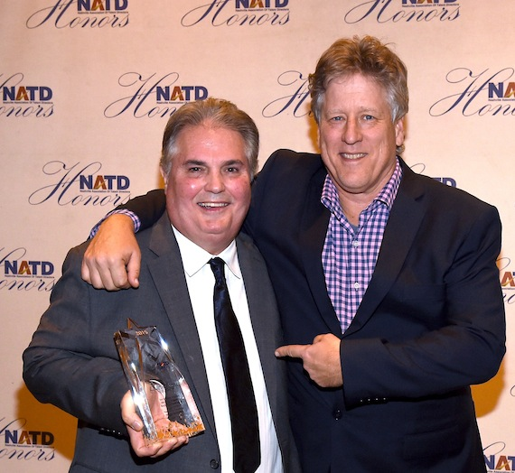 Pictured (L-R): Charlie Brusco, Red Light Management; John Huie, CAA. Photo: Rick Diamond/Getty Images for NATD