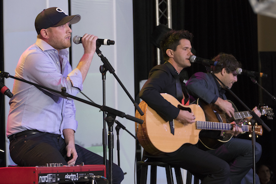 Pictured (L-R): Cole Swindell and Michael Carter