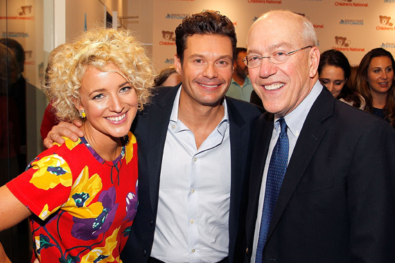 Pictured (L-R): Cam, Ryan Seacrest and Kurt Newman, MD, Children's National Health System. Photo: Paul Morigi/Getty Images