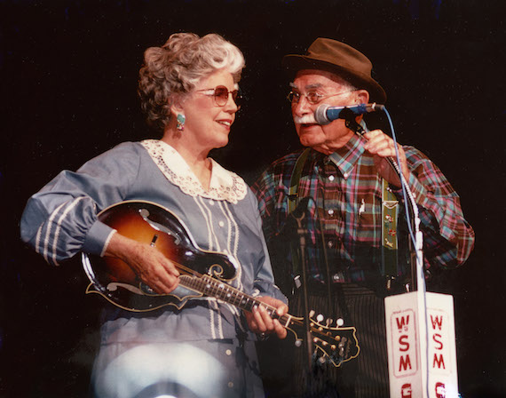 Pictured (L-R): Ramona Jones and Grandpa Jones. Photo: Grand Ole Opry Photo Archives