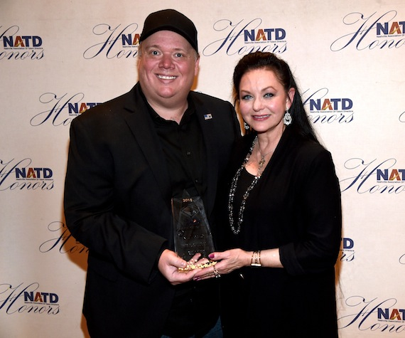 Kirt Webster and Crystal Gayle. Photo: Rick Diamond/Getty Images for NATD