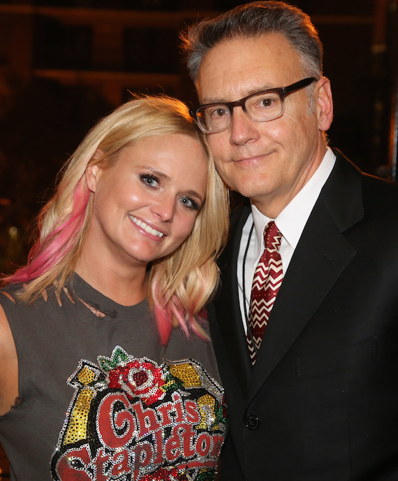 Newly crowned six-time CMA Female Vocalist of the Year Miranda Lambert and Sony Music Nashville Chairman & CEO Randy Goodman. Photo: Alan Poizner