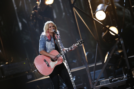 Miranda Lambert performs during the CMA awards. Photo: CMA