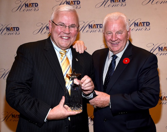Pictured (L-R): Pete Weber and Terry Crisp. Photo: Rick Diamond/Getty Images for NATD