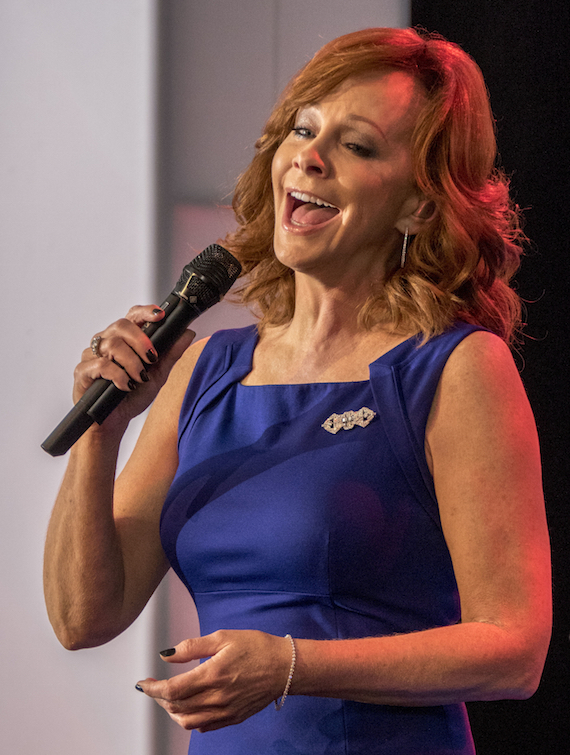 """Pictured: Reba McEntire sings Trisha Yearwood's """"The Song Remembers When"""""""