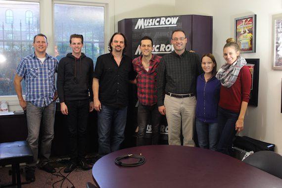 Ryan Kinder with MusicRow staffers.