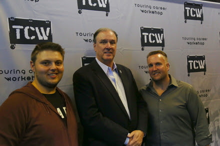Pictured (L-R): Erik Parker, co-founder, TCW; Michael Strickland, Bandit Lights; Chris Lisle, co-founder and Executive Director, TCW