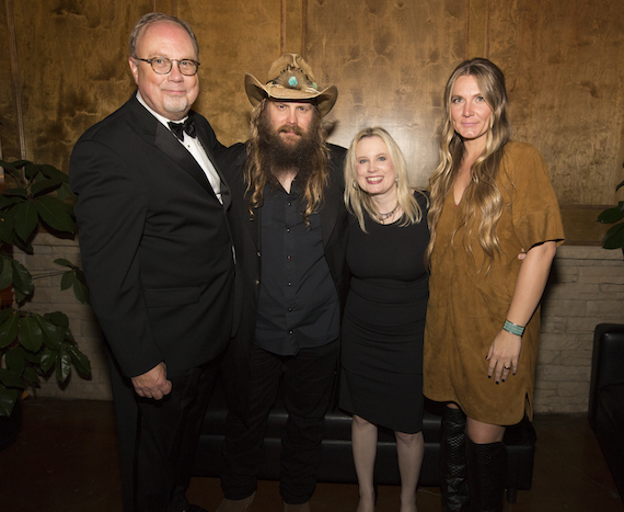 Pictured (L to R): Mike Dungan, Chairman and CEO, UMGN; Chris Stapleton; Cindy Mabe, President, UMGN; Morgane Stapleton