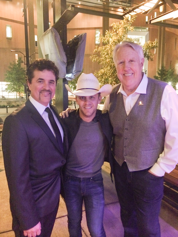 Pictured (L-R): Scott Borchetta, President/CEO, Big Machine Label Group; Justin Moore; George Briner. Photo: The Valory Music Co.