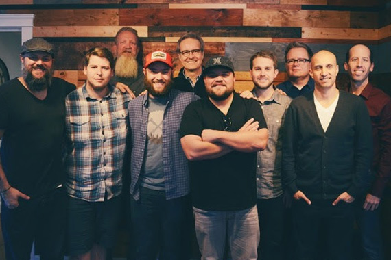 Pictured (L-R): Jon Poole, David Hart, JJ Weeks Band; Scott Brickell, Brickhouse Entertainment; Cody Preston, JJ Weeks Band; John Mays, Centricity Music; JJ Weeks; Jon Sell, Steve Ford, Chad Segura, Ben Stauffer, Centricity Music