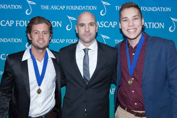 Pictured (L-R): Brandon Lay, ASCAP Creative Director Robert Filhart, Brandon Ratcliff.