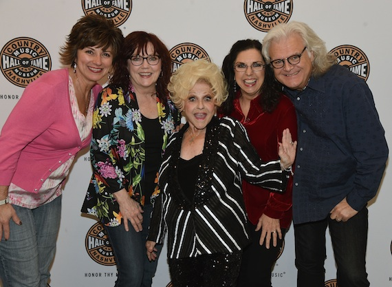 Pictured (L-R): The Country Music Hall of Fame and Museum's Sharon Brawner, Cheryl White, Brenda Lee, Sharon White, and Ricky Skaggs.