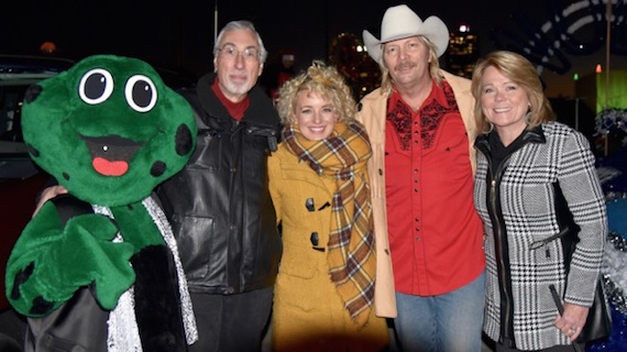 Pictured (L-R): WIVK the Frog; Bob Raleigh, PD, WIVK; Cam; PM drive host Gunner, PM Drive Host, WIVK; Alison, morning show co-host, WIVK.