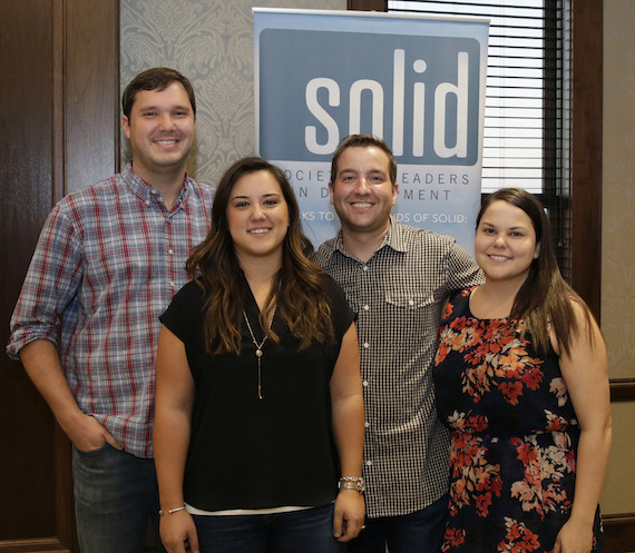 Pictured (L-R): Treasurer, John Huelsman, President, Basak Kizilisik, Vice President, Eric Wright, Secretary, Rachel Cunningham
