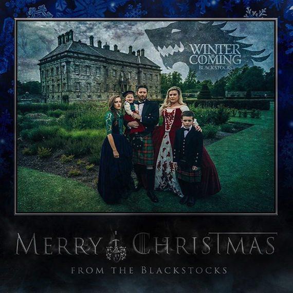 kelly clarkson brandon blackstock christmas card 2015