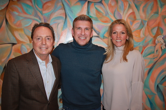 Pictured: (L-R): BMI's Jody Williams, BMI songwriter and TV personality Todd Chrisley and BMI's Leslie Roberts.
