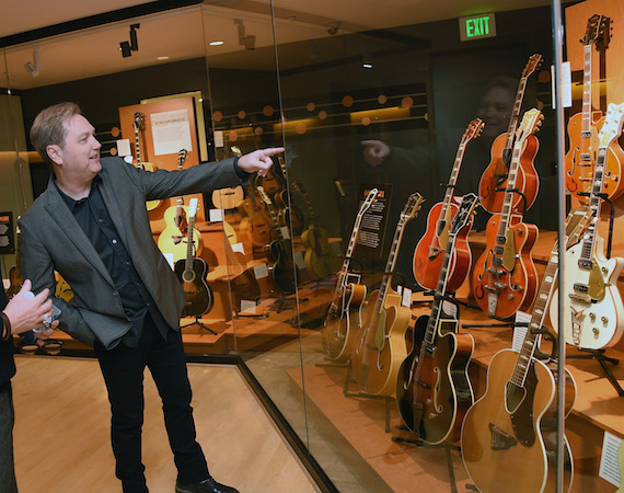 Steve Wariner views the American Sound & Beauty: Guitars from the Bachman-Gretsch Collection exhibit at the Country Music Hall of Fame and Museum.