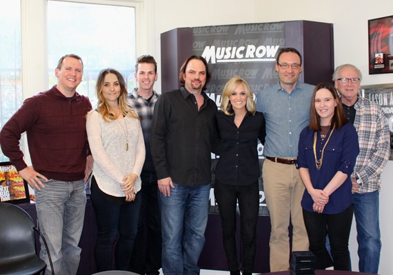 Pictured (L-R): Troy Stephenson, Molly Hannula, Eric T. Parker, Sherod Robertson, Carrie Underwood, Craig Shelburne, Jessica Nicholson, Robert K. Oermann. Photo: Jessie Schmidt