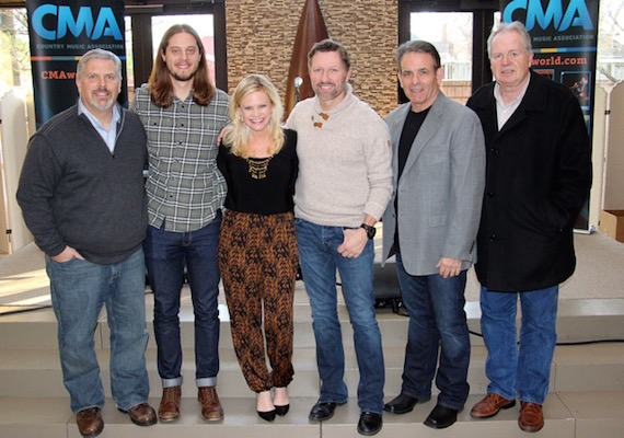 Pictured (L-R): Gordon Kerr, CEO, Black River Entertainment; Brenden Oliver, Membership & Balloting Coordinator, CMA; Brandi Simms, Sr. Director of Membership & Balloting, CMA; Craig Morgan, Rick Froio, EVP, Black River Records; Mike Wilson, Director National Promotion, Black River Records.