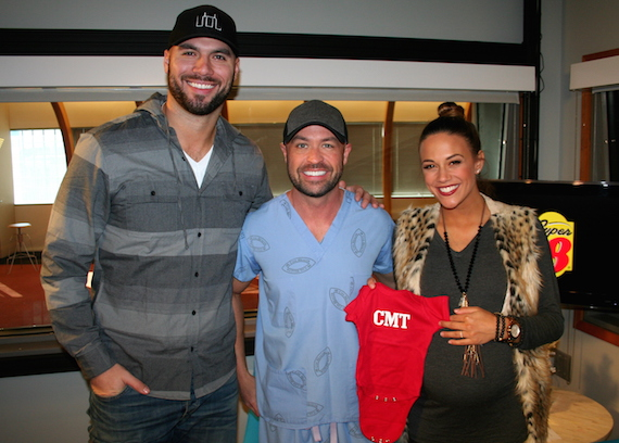 Pictured (L-R): Michael Caussin, Cody Alan, Jana Kramer.
