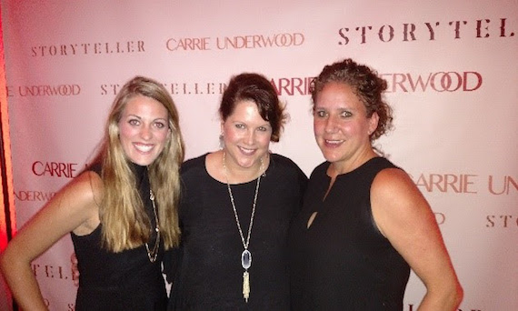 Pictured (L-R): Meredith Martin, Tresa Halbrooks, Rachel Martinez Carrie Underwood's Album Launch Event