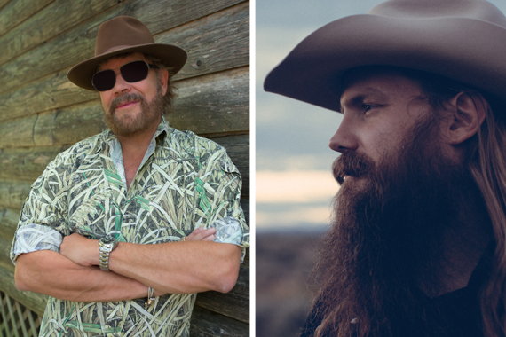Pictured (L-R): Hank Williams Jr, Chris Stapleton